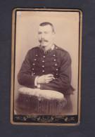 Photo Originale CDV Portrait Militaire Du 12 12è Regiment ( Infanterie ? Phot. Odinot Nancy) - Guerre, Militaire