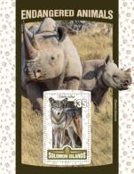 SOLOMON Isl. 2016 - Red Wolf, Endangered Animals, S/S - Postzegels