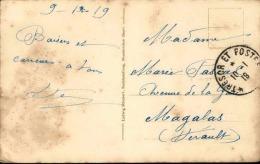 """FRANCE  - Oblitération """"  Trésor Et Postes """" Sur Carte Postale De Neunkirchen ( Sarre ) En 1919 - A Voir - L 1188 - Marcophilie (Lettres)"""