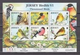 Jersey 2012,6V In Block,birds,vogels,vögel,oiseaux,pajaros,uccelli,aves,MNH/Postfris(L2473) - Vogels