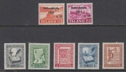 1953 ** Islande (sans Charn., MNH, Postfrish) Complete Yv 243/9  Mi 285/91  FA 319/26  (7v) - Island