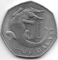 *gambia 1 Dalasi 1987  Km 29 - Gambia