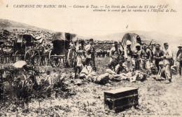 5781. CPA MAROC. GUERRE 14 18 WW1. COLONNE DE TAZA. ..BLESSES...ATTENDENT LE CONVOI...HOPITAL DE FEZ - Maroc