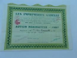 LES IMPRIMERIES GABELLE (carcassonne,aude) - Sin Clasificación