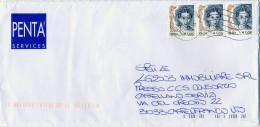 B321 2006 Busta Con Stiscia Di 3 Del 0,50€ Donne Nell´arte - 6. 1946-.. Republic