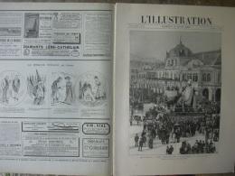L'ILLUSTRATION 2403 CARNAVAL DE NICE/ LANCE DRAGONS/ DESSINS MARS/ REINE DE SERBIE 16/03/1889 - Journaux - Quotidiens