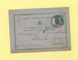 Gand - 1876 - Entree Belgique Par Lille - Texte Bureau Central De Musique - Ganzsachen