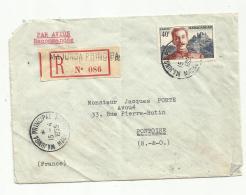 MADAGASCAR  : Colonel Lyautey Sur Recommandé Par Avion CaD Majunga Principal Du 15 04 1955 - Lettres & Documents
