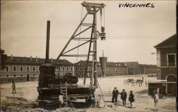 94 - VINCENNES - Caserne Du Fort-Neuf - Travaux - Carte Photo - Vincennes