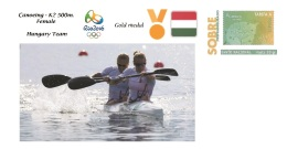 Spain 2016 - Olympic Games Rio 2016 - Gold Medal Canoeing Female Hungary Cover - Juegos Olímpicos