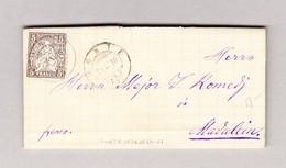 Heimat Schweiz GR PONTE 29.11.1878 Brief Nach Madulein Mit 5Rp Sitzende Helvetia - 1862-1881 Sitzende Helvetia (gezähnt)