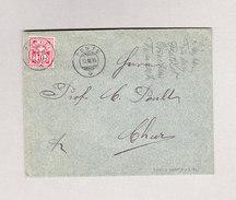 Heimat Schweiz GR PONTE 13.11.1895 Brief Nach Chur Mit 10Rp Wertziffer - 1882-1906 Armoiries, Helvetia Debout & UPU