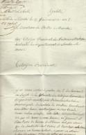Document De Marche An 8 Du Directeur Des Postes. Texte Sur Sur Une Lettre Taxée - 1794-1814 (French Period)