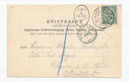 614/24 - NETHERLANDS Viewcard BERGEN OP ZOOM 1901 To BOITSFORT Belgium - Tax Mark 5 Cents = 1 Decime - Taxes