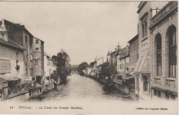 88 EPINAL 1922 CANAL DES GRANDS MOULINS BANQUE SOCIETE GENERALE ED MAGASINS REUNIS 14 TBE - Epinal