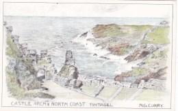 TINTAGEL - CASTLE ARCH @ NORTH COAST. N.G. CURRY - England