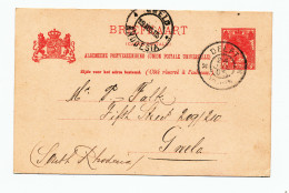 619/24 - NETHERLANDS Postwaardestuk DELFT 1905 To South Rhodesia - Very Scarce Destination RRR - Entiers Postaux