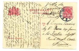 621/24 - NETHERLANDS Postwaardestuk MAASTRICHT 1915 To MONTE CARLO - Good Destination - Entiers Postaux