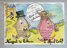 Carte Salon - Nogent-le-Rotrou (28) - 22e Foire Aux Collections - 1er Avril 2007 - Dessin De Martine DUMUR - Bolsas Y Salón Para Coleccionistas