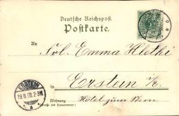 ALLEMAGNE - Oblitération Et Carte De Markirch ( Gruss Aus ) En 1898 Pour Erstein - A Voir - L 1204 - Germany