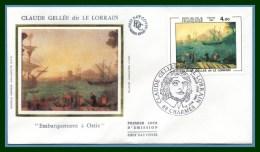 FDC Silk Soie Claude Gelée Charmes 1982 N° 2211  Peintre Voilier - FDC