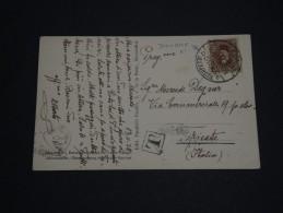 """EGYPTE - Oblitération """" Alexandrie Douane """" En 1928 Sur Carte Postale Pour Trieste Et Taxée - A Voir - L 1217 - Egypt"""