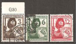DR 1937 // Michel 643/645 O (4143) - Deutschland