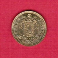 SPAIN  1 PESETA 1966 (73) (KM # 796) - [ 5] 1949-… : Kingdom