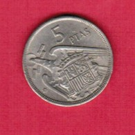 SPAIN  5 PESETAS 1957 (68) (KM # 786) - [ 5] 1949-… : Kingdom