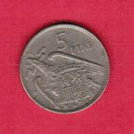 SPAIN  5 PESETAS 1957 (61) (KM # 786) - [ 5] 1949-… : Kingdom
