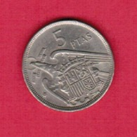 SPAIN  5 PESETAS 1957 (70) (KM # 786) - [ 5] 1949-… : Kingdom
