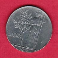 ITALY  100 LIRE 1957 (KM # 96) - 100 Lire