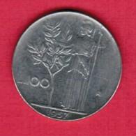 ITALY  100 LIRE 1957 (KM # 96) - 1946-… : Republic