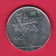 ITALY  100 LIRE 1976 (KM # 96) - 1946-… : Republic