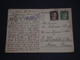 ALLEMAGNE - Oblitération De Echternach En 1944 Sur Entier Postal Pour La France , Censure - A Voir - L 1233 - Briefe U. Dokumente