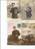 Lot  17 Cartes    Couple Et Hommes Seuls - Postcards