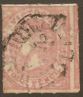 VICTORIA 1858 4d Dull Rose-red QV Roulette SG 71 U #VI616 - Oblitérés