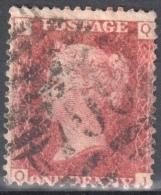 Great Britain 1858-79 - Queen Victoria, 1d Red - Mi.16 Plate 111 - Used - 1840-1901 (Viktoria)
