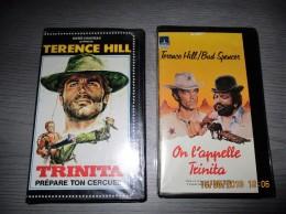 Lot De 2 Cassettes Video  VHS   TRINITA - Western/ Cowboy