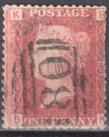 Great Britain 1858-79 - Queen Victoria, 1d Red - Mi.16 Plate 81 - Used - 1840-1901 (Viktoria)