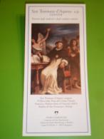 Brochure - S.TOMMASO D'AQUINO/1662 Guercino,Basilica S.Domenico BOLOGNA/Padri Domenicani,Convento S.Bartolomeo,BERGAMO - Religione & Esoterismo