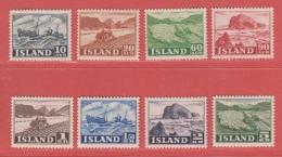 1950 ** (sans Charn., MNH, Postfrish)  Yv  224/6-8/9-231/3Mi  263/70 (8v.) - Ungebraucht