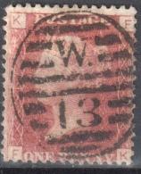 Great Britain 1858-79 - Queen Victoria, 1d Red - Mi.16 Plate 97 - Used - 1840-1901 (Viktoria)