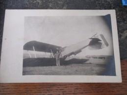 CPA Carte Photo Avion Accident - Avions
