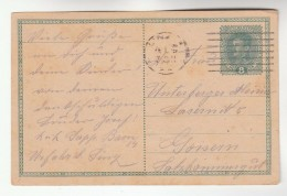 1918 Linz AUSTRIA  Postal STATIONERY CARD Stamps Cover - Stamped Stationery