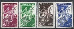 """Monaco Préo YT 19 à 22 """" Série Cavaliers Nouveaux Francs """" 1960 Neuf** - Monaco"""