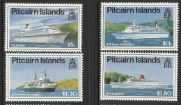 PITCAIRN ISLANDS 1991 CRUISE SHIPS SET MNH - Boten