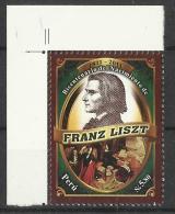 PERU 2011 FRANZ LISZT, MUSICIAN MNH - Peru