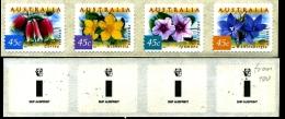 AUSTRALIA - 2000  COASTAL FLOWERS P&S STRIP  AUSPRINT  1 KOALA REPRINT MINT NH - Nuovi