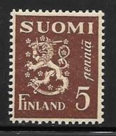 Finland, Scott # 158 MNH Lion Arms, 1930 - Finland